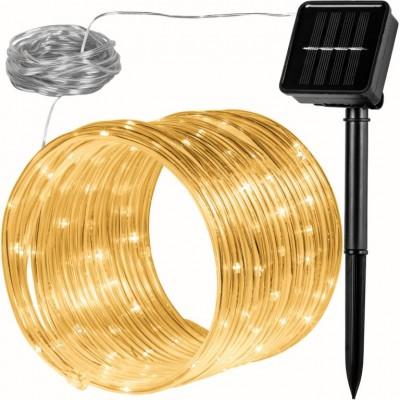 Solárna svetelná hadica - 100 LED teplá biela VOLTRONIC