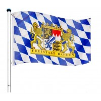 Vlajkový stožiar vrátane vlajky Bayern - 650 cm