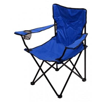Kempingová skladacia stolička BARI - modrá