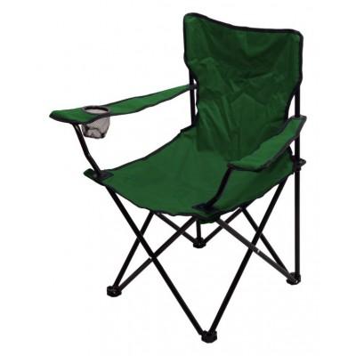 Kempingová skladacia stolička BARI - zelená