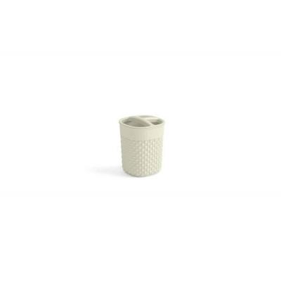 Plastový kelímok na kefky FILO - krémový