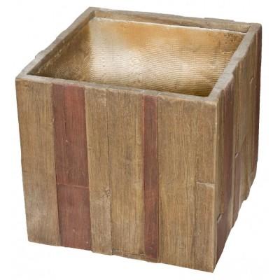 Květináč G21 Wood Cube 55x55x52cm