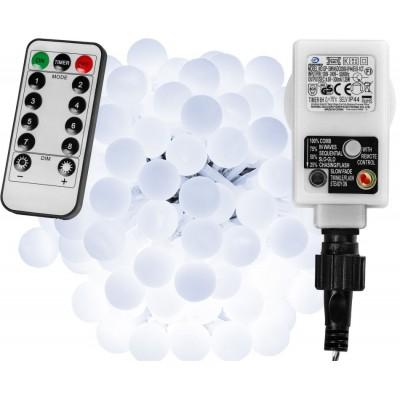 Párty LED osvetlenie 20 m - studená biela 200 diód + ovládač