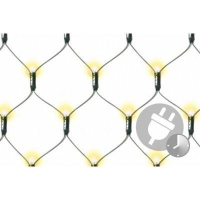 Vianočná svetelná sieť - 1,8 x 2,3 m, 320 diód, teplá biela