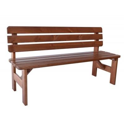 Záhradná drevená lavica Viking - 150 cm, lakovaná