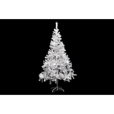 Umelý vianočný strom s trblietavým efektom - 180 cm, biely