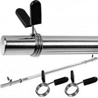 MOVIT® 160 cm posilňovacia tyč, chróm, pružinový uzáver
