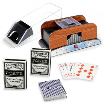 Pokrová sada - miešačka kariet, podávačka, karty