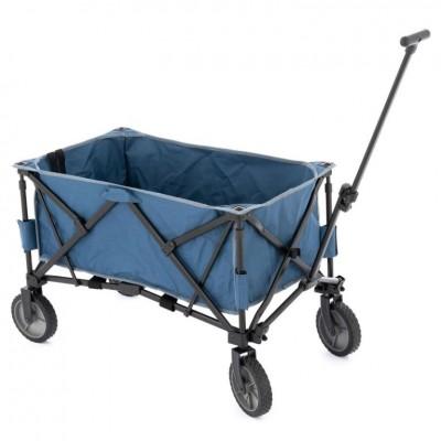 Transportný skladací vozík - modrý