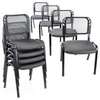 Sada stohovateľných stoličiek - 8 ks, sivá