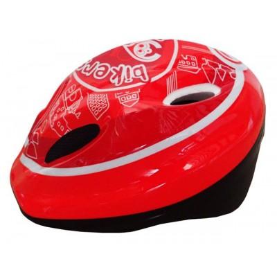 Cyklistická detská prilba červená / biela veľkosť M