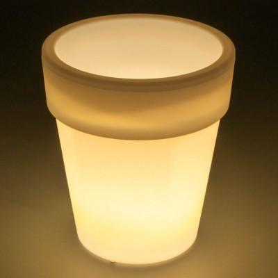 Solárny ozdobný kvetináč - 3 LED, teplá biela