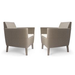 Polyratanové stoličky a kreslá