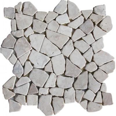 Mozaika z mramoru Kuta White - 1× sieťka
