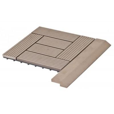 Prechodová lišta G21 pre WPC dlaždice indický tík 38,5x75 cm rohová