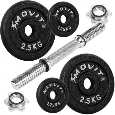 Jednoručná liatinová činka MOVIT - 10 kg