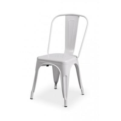 Bistro stolička Paris inšpirovaná TOLIX - biela