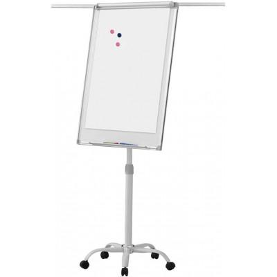 Flipchart tabuľa na kolieskach, biela, 60 x 90 cm