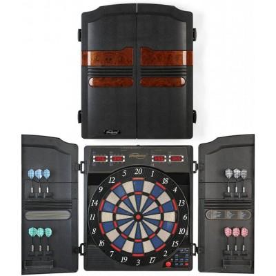 Elektronický terč s dvierkami pre 16 hráčov + 12 šípok