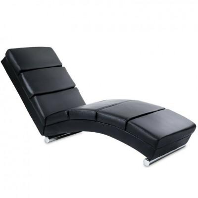 Relaxačné lehátko, čierne