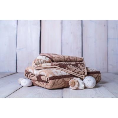 Set osuška + uterák Orient - hnedá