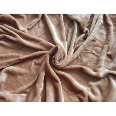 Mikroplyšová plachta 180 x 200 cm - oriešková
