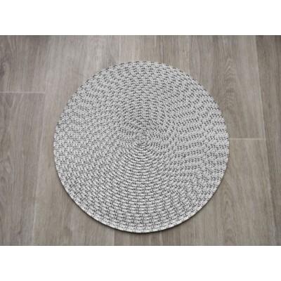 Prestieranie okrúhle 38 cm - sivobiele