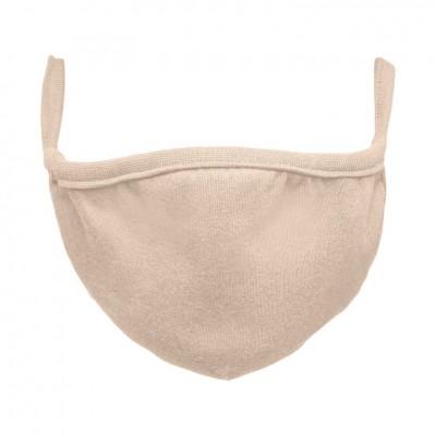 Bavlnené rúško dvojvrstvové - pieskové, 10 ks