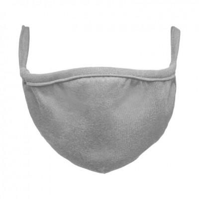 Bavlnené rúško dvojvrstvové - sivé, 10 ks