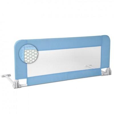 Detská zábrana na posteľ, 102 cm, modrá