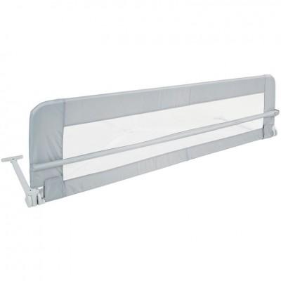 Detská zábrana na posteľ, 150 cm, sivá