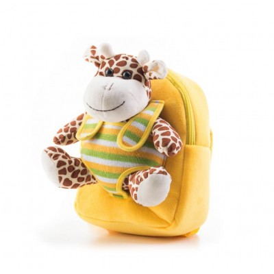 G21 batoh s plyšovou žirafou-  žltý