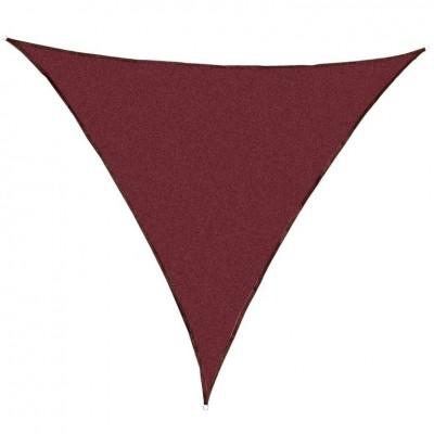 Tieniaca záhradná plachta trojuholníková, červená, 360 cm
