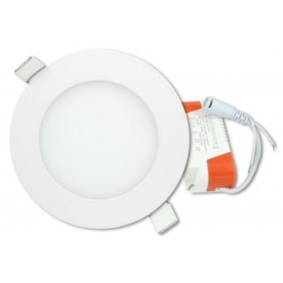 LED stropný panel guľatý 6 W, studená biela
