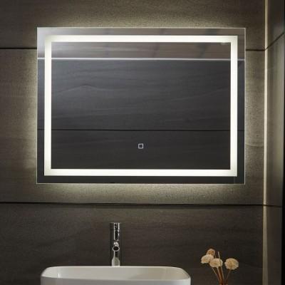 AQUAMARIN kúpeľňové zrkadlo s LED osvetlením 28 W, 80 x 60cm