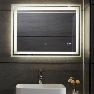 AQUAMARIN kúpeľnové zrcadlo s LED osvetlením, 80 x 60 cm