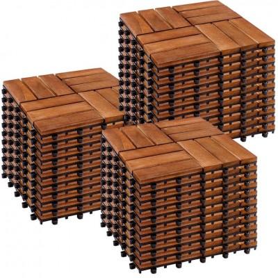 STILISTA drevené dlaždice, mozaika 3, agát, 3 m²