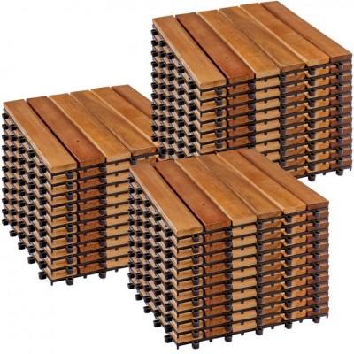 STILISTA drevené dlaždice, klasik, agát, 3 m²