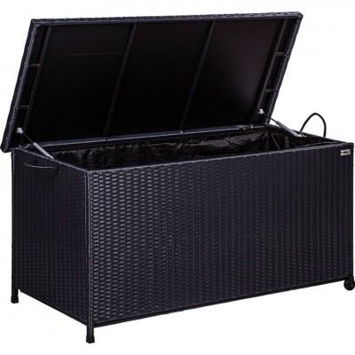 STILISTA Záhradný úložný box, čierna, 122 x 62 x 56 cm